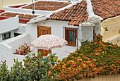 View over the roofs at Icod de los Vinos, Tenerife, Canary Islands, Islas Canarias, Atlantic Ocean, Spain, Europe