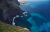 View from the Mirador Don Pompeyo at the Teno mountains and rocky coast near Buenavista del Norte, Tenerife, Canary Islands, Islas Canarias, Atlantic Ocean, Spain, Europe