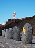 Punta de Teno with the lighthouse Faro de Teno, Teno mountains, Tenerife, Canary Islands, Islas Canarias, Atlantic Ocean, Spain, Europe