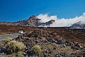Fog gathering in the Parque Nacional del Teide, Las Canadas, Natural Heritage of the World, Tenerife, Canary Islands, Islas Canarias, Spain, Europe