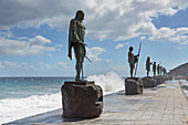 Statues of the Guanchen Kings at Candelaria, Tenerife, Canary Islands, Islas Canarias, Atlantic Ocean, Spain, Europe
