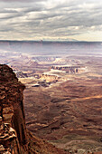 Clearing storm at the Grand View Point Overlook, Canyonlands National Park, Utah.