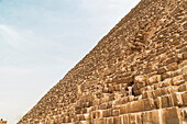Side view of Great Pyramid of Giza, Cairo, Egypt