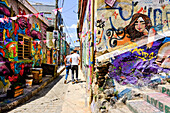 Colorful Alleyway in Valparaiso, Chile