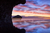 Cabo de Gata-Nijar Natural Park Monsul Beach at purple scenic dusk, Murcia, Spain
