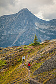 Father and son hiking trip, Merritt, British Columbia, Canada