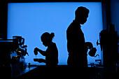 Baristas preparing coffee, Dean Street, Boerum Hill, Brooklyn, New York City, USA