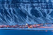 Grundarfjörður at dawn,  Snæfellsnes peninsular, Iceland