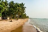 Beautiful beach in Neekreen near Buchanan, Liberia, West Africa, Africa