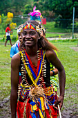 Young people practising traditional dance, Manus Island, Admiralty Islands, Papua New Guinea, Pacific