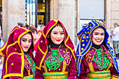 Performers at the International Folklore Show, Zagreb, Croatia, Europe