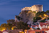 The Lovrijenac Fortress (St. Lawrence Fortress) outside the old town of Dubrovnik, Croatia, Europe