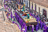Procession at the fourth weekend of Lent 2017 in Antigua, Guatemala, Central America