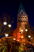 Small Christmas market at St. John's Church in Luneburg, Lower Saxony, Germany, Europe