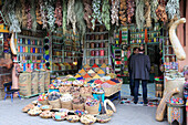 Spices and Herbs, Souk, Market, Medina, UNESCO World Heritage Site, Marrakesh (Marrakech), Morocco, North Africa, Africa