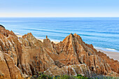 Sandstone cliffs in Carvalhal on the Alentejo coast, Portugal, Europe