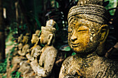 Statues at Wat Phalad Temple, Chiang Mai, Thailand, Southeast Asia, Asia