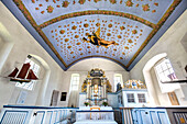 Interior, Island church, Kloster, Hiddensee island, Mecklenburg-Western Pomerania, Germany
