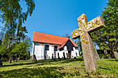 Island church, Kloster, Hiddensee island, Mecklenburg-Western Pomerania, Germany
