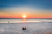 Sunset at the beach, Vitte, Hiddensee island, Mecklenburg-Western Pomerania, Germany