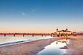 Pier, Ahlbeck, Usedom island, Mecklenburg-Western Pomerania, Germany