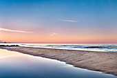 Beach, view from Ahlbeck to Heringsdorf, Usedom island, Mecklenburg-Western Pomerania, Germany