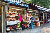 Polish market, Swinemünde, Usedom, Poland