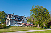 Hotel and restaurant  Hitthim, Kloster, Hiddensee island, Mecklenburg-Western Pomerania, Germany