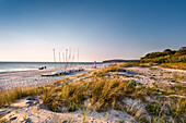 Sunset at the beach, Vitte, Hiddensee island, Mecklenburg-Western Pomerania, Germany