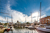 Marina and old town, Stralsund, Mecklenburg-Western Pomerania, Germany