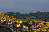 LLano Negro, village with windmill, Garafia region, UNESCO Biosphere Reserve, La Palma, Canary Islands, Spain, Europe