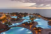Poollandschaft, Hotel La Palma and Teneguia Princess, Fuencaliente, UNESCO Biosphere Reserve, La Palma, Canary Islands, Spain, Europe