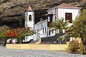 Nuestra Senora de las Angustias, pilgrimage church, Barranco de las Angustias, gorge, near Puerto Tazacorte,UNESCO Biosphere Reserve, La Palma, Canary Islands, Spain, Europe
