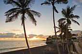 Playa de Puerto Naos, beach, Puerto Naos, east coast, Atlantic, UNESCO Biosphere Reserve, La Palma, Canary Islands, Spain, Europe
