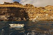 Poris de Candelaria, Cueva de Candelaria, pirate cove, boat excursion from Puerto de Tazacorte, excursion boat Fantasy, sea, Atlantic, UNESCO Biosphere Reserve, La Palma, Canary Islands, Spain, Europe