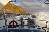 boat excursion from Puerto de Tazacorte, excursion boat Fantasy, sea, Atlantic, UNESCO Biosphere Reserve, La Palma, Canary Islands, Spain, Europe