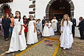 procession, Corpus Christi, Feast of Corpus Christi, Villa de Mazo, UNESCO Biosphere Reserve, La Palma, Canary Islands, Spain, Europe