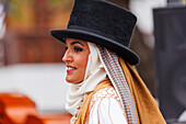 folk dance, traditional costumes, festival on the day of the Canary Island, woman, folk group, springtime, Los Sauces, San Andres y Sauces, UNESCO Biosphere Reserve, La Palma, Canary Islands, Spain, Europe