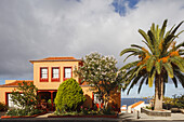 house with canarian palm tree, San Andres, village, San Andres y Sauces, UNESCO Biosphere Reserve, La Palma, Canary Islands, Spain, Europe