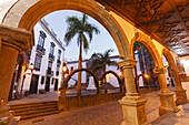 Plaza de Espana, town hall square, Santa Cruz de La Palma, capital of the island, UNESCO Biosphere Reserve, La Palma, Canary Islands, Spain, Europe
