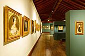 Art exhibition, Museo Insular, island museum, Convento de San Francisco de Asis, former Franziscan monestary , Santa Cruz de La Palma, capital of the island, UNESCO Biosphere Reserve, La Palma, Canary Islands, Spain, Europe