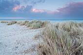 Düne, Strand, Abendrot, Schillig, Wangerland, Nordsee, Landkreis Friesland, Niedersachsen, Deutschland, Europa