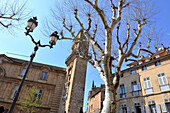 Cityhallsquare in the oldtown of Aix-en-Provence, Provence, France