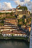 View from Dom Louis I bridge over Douro river, Mosteiro da Serra do Pilar, Monastry in the background, Porto, Portugal Porto, Portugal