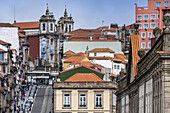 Church of Saint Ildefonso in the background, Porto, Portugal