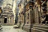 Kailasa temple details in Ellora, near Aurangabad, Maharastra, India