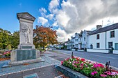 The Keswick war memorial, County Square, Lake District National Park, Cumbria, England, United Kingdom, Europe.