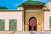 The Moulay Ismail Mausoleum. Meknes, Morocco, North Africa.