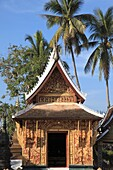Laos, Luang Prabang, Wat Xieng Thong, Sanctuary, Red Chapel, buddhist temple,.