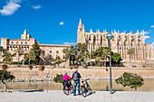 Cathedral of Santa Maria, Almudaina Palace, Palma de Mallorca, Mallorca, Spain